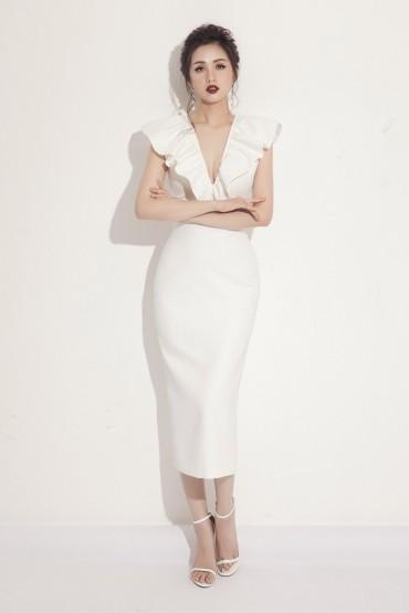 V577 - Váy đầm bút chì nữ hoàng thiết kế trễ vai 3 trong 1 - Đen, Trắng, Đỏ - Bely